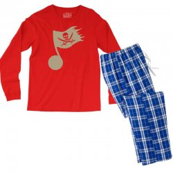 music pirate Men's Long Sleeve Pajama Set | Artistshot