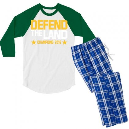 Cleveland Cavaliers Men's 3/4 Sleeve Pajama Set Designed By Vr46