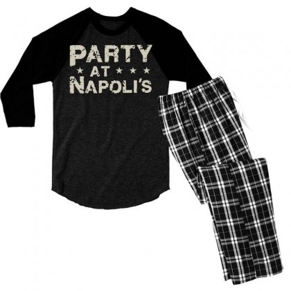 Party At Napolis Men's 3/4 Sleeve Pajama Set Designed By Vr46