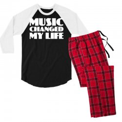 music changed my life Men's 3/4 Sleeve Pajama Set | Artistshot