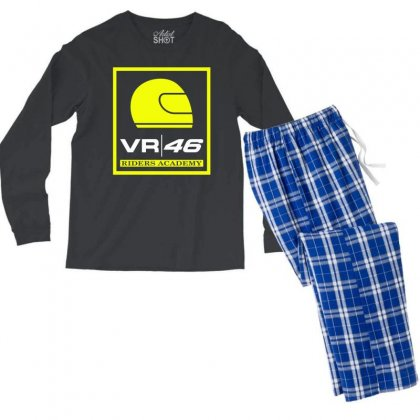 Vr46 Riders Academy Men's Long Sleeve Pajama Set Designed By Vr46