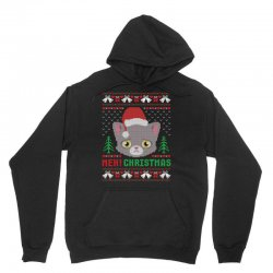 Meh Christmas Meow Ugly Christmas Unisex Hoodie Designed By Akin