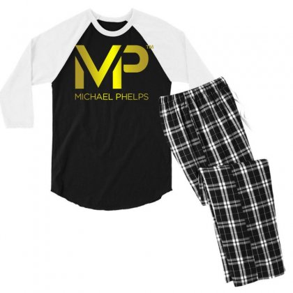 Michael Phelps Men's 3/4 Sleeve Pajama Set Designed By Vr46