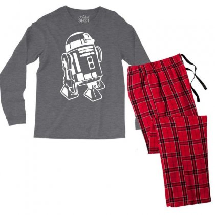 R2 D2 Retro Star Wars Sci Fi Lucas Men's Long Sleeve Pajama Set Designed By Katabudi