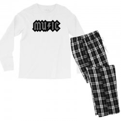music Men's Long Sleeve Pajama Set | Artistshot