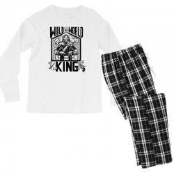 Wild World King Men's Long Sleeve Pajama Set | Artistshot