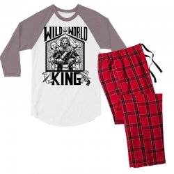 Wild World King Men's 3/4 Sleeve Pajama Set | Artistshot