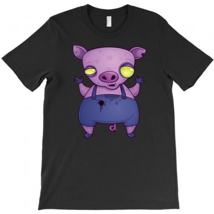 Zombie Pig T-shirt Designed By Fizzgig