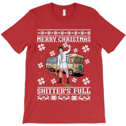 Merry Christmas Shitters Full Christmas Ugly T-shirt Designed By Sengul