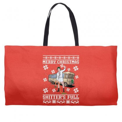 Merry Christmas Shitters Full Christmas Ugly Weekender Totes Designed By Sengul