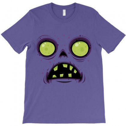 Zombie Face T-shirt Designed By Fizzgig