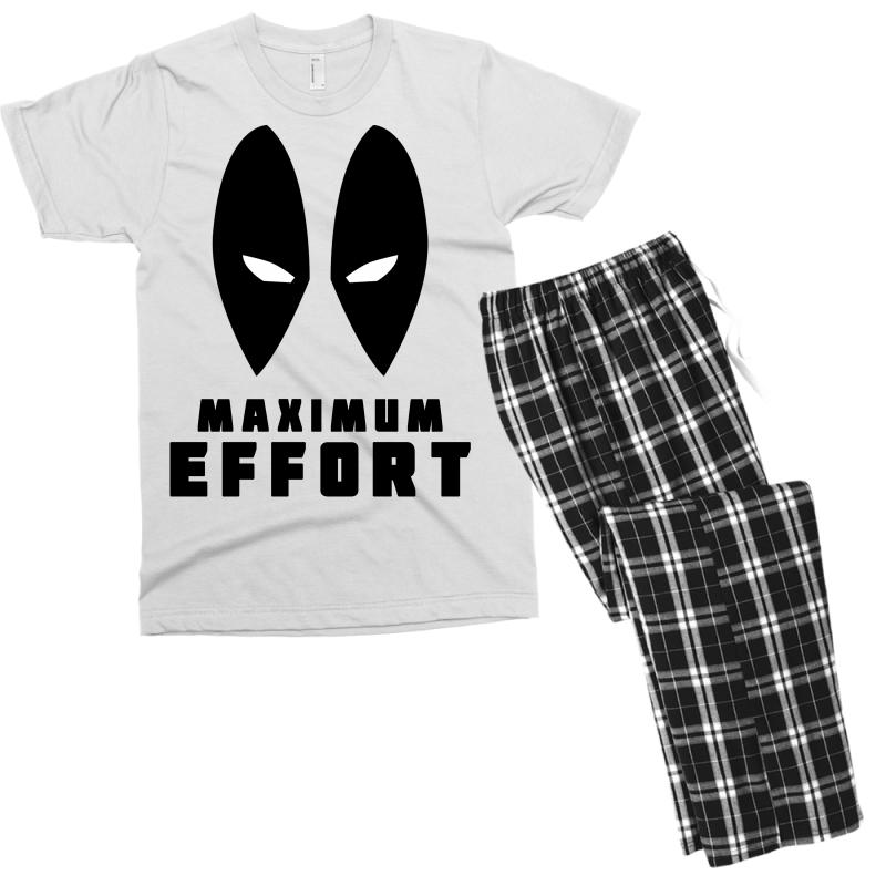 1a2a5777 Custom Deadpool Maximum Effort Men's T-shirt Pajama Set By Akin ...