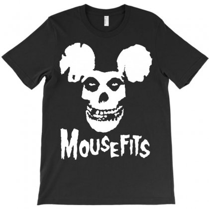 Mouse Fits White Print T-shirt Designed By Tshiart