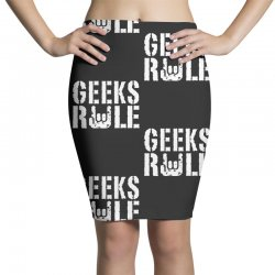 geeks rule Pencil Skirts | Artistshot