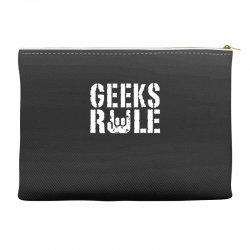geeks rule Accessory Pouches | Artistshot