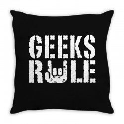 geeks rule Throw Pillow | Artistshot