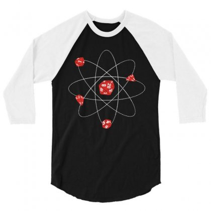 Dice Atom 3/4 Sleeve Shirt Designed By Mdk Art