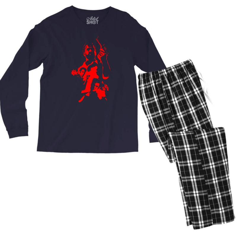 Custom Red Max Payne Men S Long Sleeve Pajama Set By Specstore