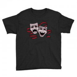 Comedy And Tragedy Theater Masks Youth Tee | Artistshot