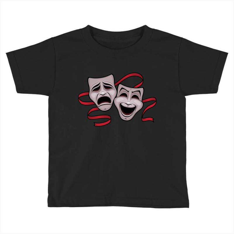 Comedy And Tragedy Theater Masks Toddler T-shirt | Artistshot