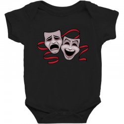 Comedy And Tragedy Theater Masks Baby Bodysuit | Artistshot