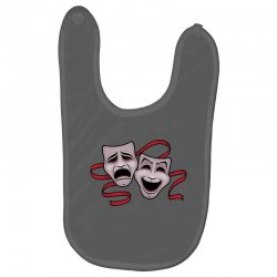 Comedy And Tragedy Theater Masks Baby Bibs | Artistshot