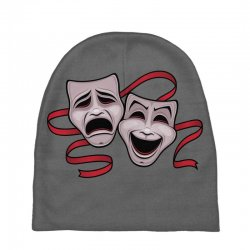 Comedy And Tragedy Theater Masks Baby Beanies | Artistshot