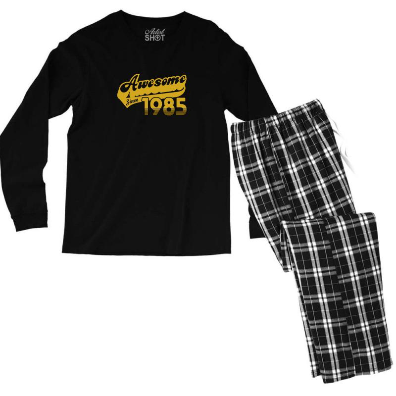 dfc3d920 Custom 30th Birthday T Shirt Awesome Since 1985 T Shirt Funny Tees Men's  Long Sleeve Pajama Set By Tee Shop - Artistshot