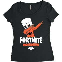 fortnite marshmello new skin Women's Triblend Scoop T-shirt | Artistshot