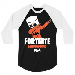 fortnite marshmello new skin 3/4 Sleeve Shirt | Artistshot