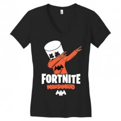 fortnite marshmello new skin Women's V-Neck T-Shirt | Artistshot