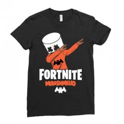 fortnite marshmello new skin Ladies Fitted T-Shirt | Artistshot