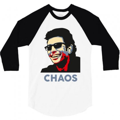 Ian Malcolm Chaos 3/4 Sleeve Shirt Designed By Wizarts