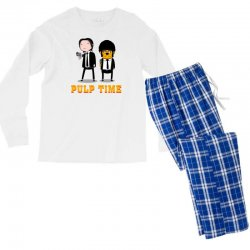 Custom Adventure Time Pulp Fiction Men s 3 4 Sleeve Pajama Set By ... af5503a2d