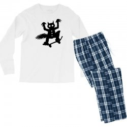 wild thing on a skateboard Men's Long Sleeve Pajama Set | Artistshot