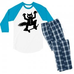 wild thing on a skateboard Men's 3/4 Sleeve Pajama Set | Artistshot