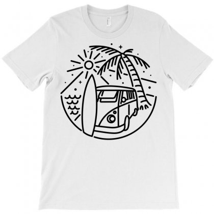 Van, Surf, And Beach (for Light) T-shirt Designed By Quilimo