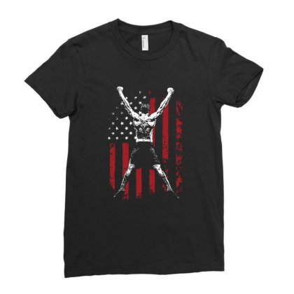 Americas Greatness Ladies Fitted T-shirt Designed By Tee Shop