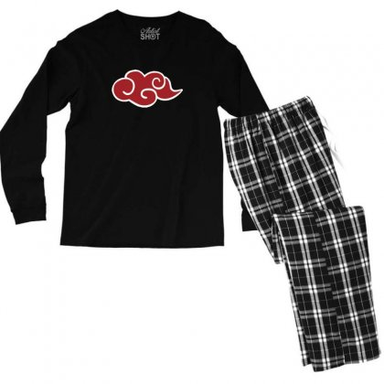 Anime Naruto Akatsuki Red Cloud Sasuke Uchiha Men's Long Sleeve Pajama Set Designed By Tee Shop