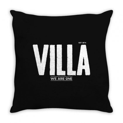 Aston Villa Fc Throw Pillow Designed By Tee Shop