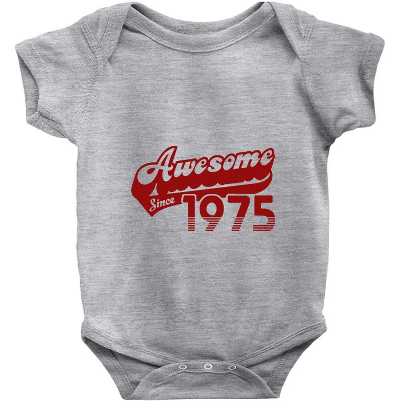 Awesome Since 1975 T Shirt 40th Birthday Baby Bodysuit