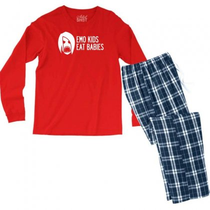 Emo Kids Eat Babies Men's Long Sleeve Pajama Set Designed By Specstore
