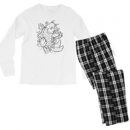 Goldfish Of Heaven Men's Long Sleeve Pajama Set Designed By Specstore