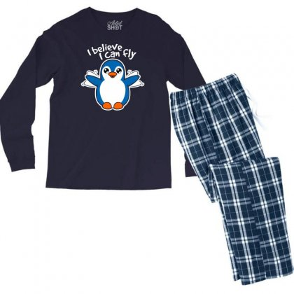 I Believe I Can Fly Men's Long Sleeve Pajama Set Designed By Specstore