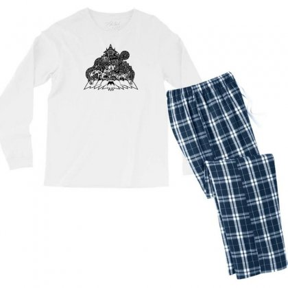 Ilumination Doodle Men's Long Sleeve Pajama Set Designed By Specstore