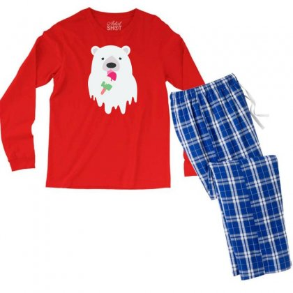 Melted Polar Cream Men's Long Sleeve Pajama Set Designed By Specstore