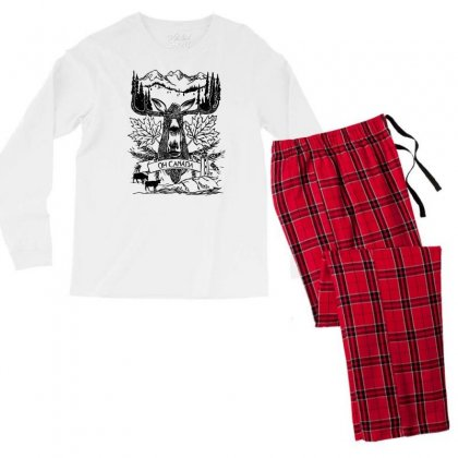 Oh Canada Men's Long Sleeve Pajama Set Designed By Specstore