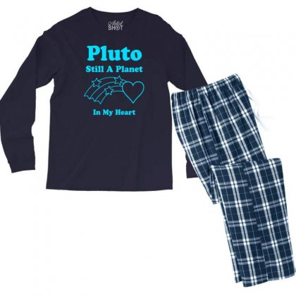 Pluto Still A Planet In My Heart Men's Long Sleeve Pajama Set Designed By Specstore