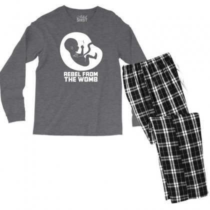 Rebel Fromthe Womb Men's Long Sleeve Pajama Set Designed By Specstore