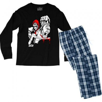 Red Murder Men's Long Sleeve Pajama Set Designed By Specstore